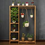 Solid Folding Wooden Flower Rack Living Room Multi-storey Pots Shelf Floor-style Green Radish Basket Basket Shelf (primary Color)