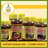 Shastha Instant Rasam Mix Combo Pack of E (Contains 4 Items) Shastha (Horsegram-1, Pearl Millet-1, Mysore-1 & Cumin Seeds-1) Rasam Mix (Each 200 Gms) T-B