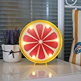 DELICORE Grapefruit Slice Led Marquee Light Sign Decorative Fruit Night Lamp Table Light Home Kitchen Cabinet Decor Holiday Party Supply Best Gift Choice For Kids (grapefruit)