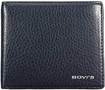 Bovi's Black Leather For Men - Bifold Wallets