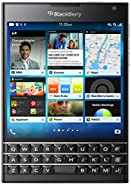 BlackBerry Passport 32GB Factory Unlocked (SQW100-1) GSM 4G LTE Smartphone - Black (International Version, QWERTZ Keyboard)