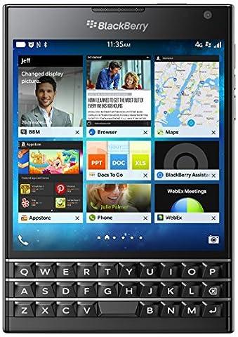 BlackBerry Passport 32GB Factory Unlocked (SQW100-1) GSM 4G LTE Smartphone - Black (Prepaid Iphones Boost Mobile)