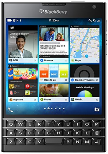 BlackBerry Passport 32GB Factory Unlocked (SQW100-1) GSM 4G LTE Smartphone - Black (International Version, QWERTZ Keyboard) Blackberry Mobile Memory Card
