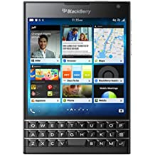 BlackBerry Passport 32GB Factory Unlocked (SQW100-1) GSM 4G LTE Smartphone - Black (International Version, QWERTZ Keyboard)