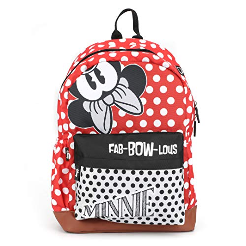 Disney Minnie Mouse 17 Inch / 20 Ltrs Casual Backpack with Faux Leather Base