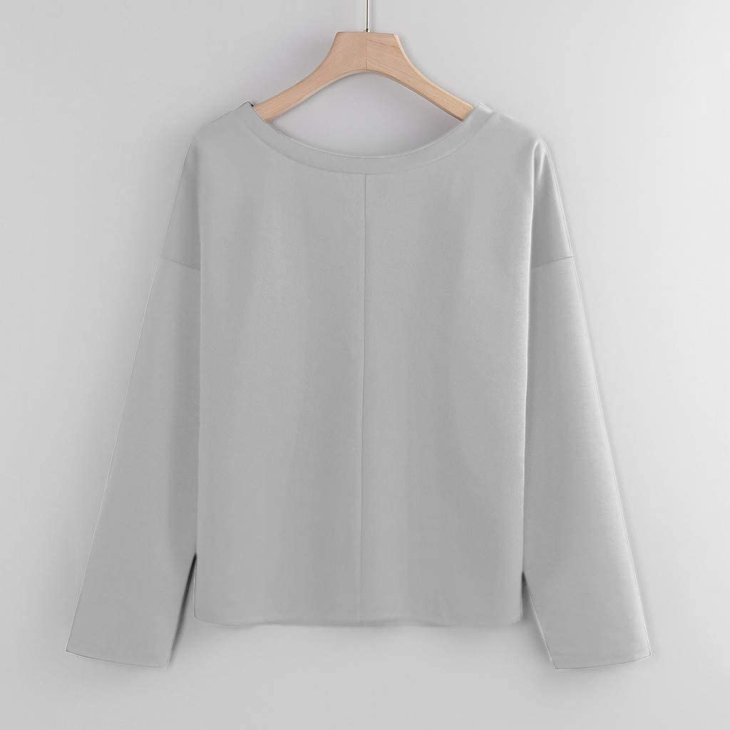 RUIVE Plus Size Tops for Women/'s Christmas One Shoulder Blouse Xmas Gift Print Casual Girls Cute Pullover Sweatshirt