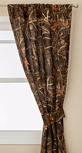 Realtree Max-4 Rod Pocket Drapes, 2 Panels, 2 Tie-backs, 84 Inch ()