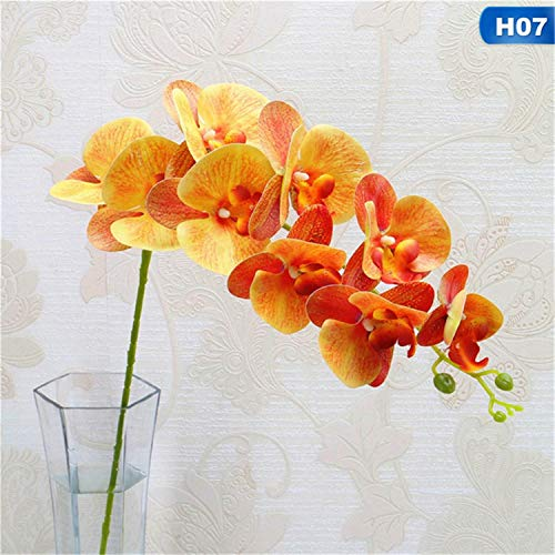 - Romanly 9 Heads 105Cm Artificial Flower Phalaenopsis Latex Silicon Big Orchid Orchidee Wedding Single Pcs 7 M