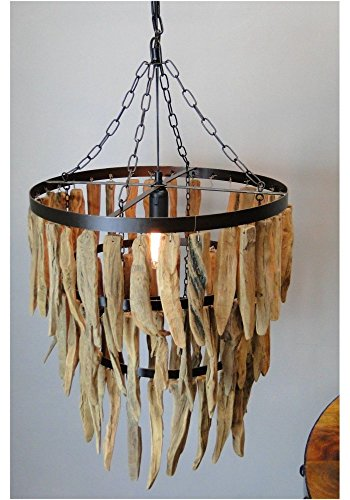 Large-Driftwood-Three-Tier-Chandelier-with-Iron-Rings-Beach-Nautical-Theme
