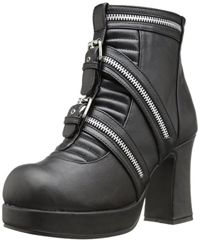 Vegan Demonia 50 Gothika Blk Leather USMzVp