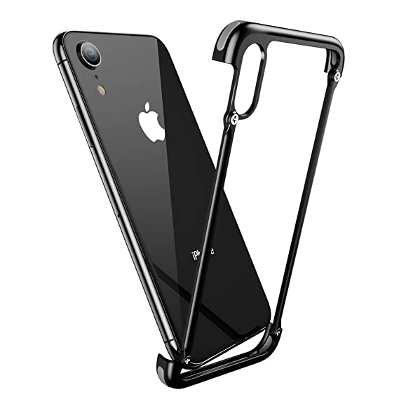 new style d2d8e ca552 OATSBASF Aluminum Bumper Case Compatible with iPhone XR, Utral-Thin Corner  Corver Bumpers Case for iPhone XR 5.8-inch