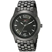 U.S. Polo Assn. Men's Dial Extra Long Gun Metal Bracelet Watch Black US8444EXL