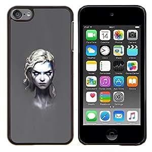 Qstar Arte & diseño plástico duro Fundas Cover Cubre Hard Case Cover para Apple iPod Touch 6 6th Touch6 (Goth Girl)