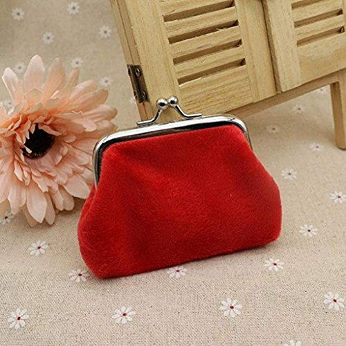 Corduroy Noopvan Wallet Coin Mini Bag Clutch Clearance small cute Lady Red Hasp Purse 2018 wallets Wallet zrIx0r