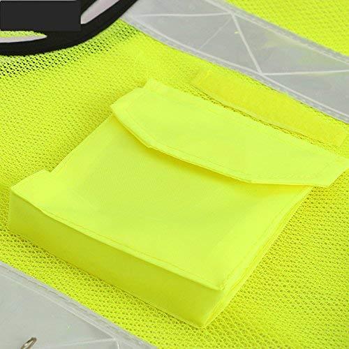 De A Chaleco Advertencia Malla Tela Fuweiencore A color Reflectante Trabajo Vial Seguridad qzF8E