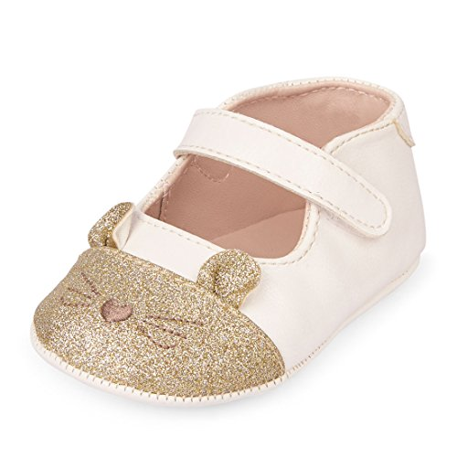 Infant Cat (The Children's Place Girls' Nbg Cat Ballet Flat, Ivory, 6-12MONTHS Months US Infant)
