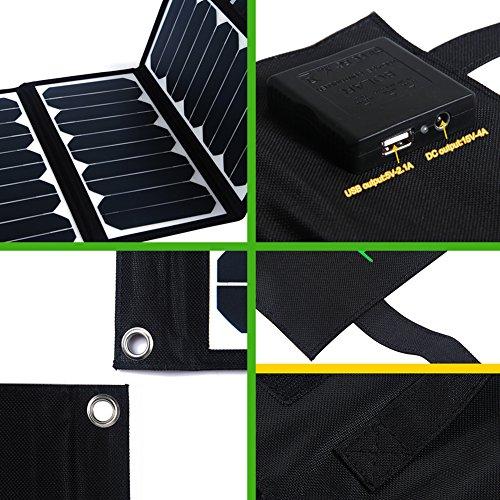 KINGSOLAR™ Highest Efficient 60W Foldable Solar Panel Portable Solar Charger Dual Output (USB Port + DC Output) by KINGSOLAR™ (Image #4)