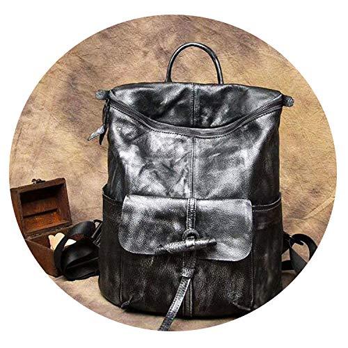 Ashley Shoulder Bag - New hand-brushed Real genuine leather Women backpack female top layer leather retro laptop shoulder bag,1