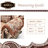 Sideli Super Soft Velvet Sofa Arm Protector Nonslip Slipcover Luxury Sofa Throw Arm Pad Furniture Protector Sold by Set Non-Slip