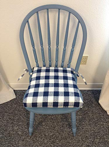 Chair Cushion Pad, With Buffalo Check Themed Fabric, Seat Cushion With Ties  And Removable