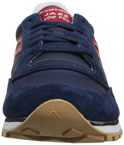 Originali Saucony Mens Jazz Low Pro Sneaker Blu / Rosso