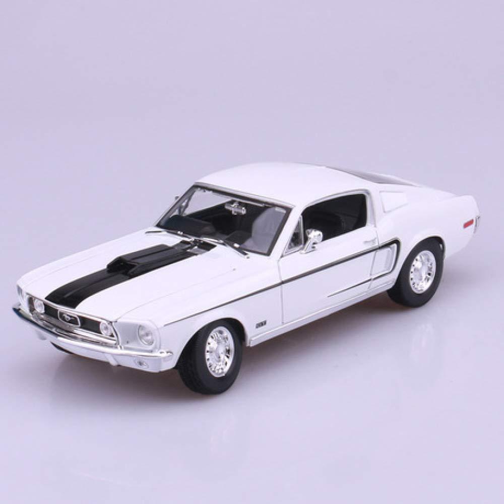 A  GFLD 1 18 Alliage Simulation Voiture Jouets 1967 Ford Mustang GT Muscle Modèle De Voiture Modèle Décoration Cadeaux