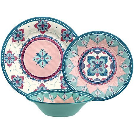 Groovy Dinnerware Set 12 Pieces Boho Design Download Free Architecture Designs Lukepmadebymaigaardcom