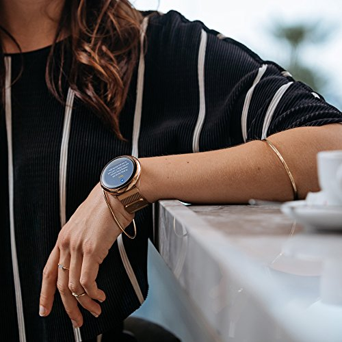 MyKronoz ZeRound2 HR Elite Smartwatch with Heart Rate Monitoring and Smart Notifications, Swiss Design, iOS and Android - Shiny Pink Gold / Milanese Pink Gold by MyKronoz (Image #7)