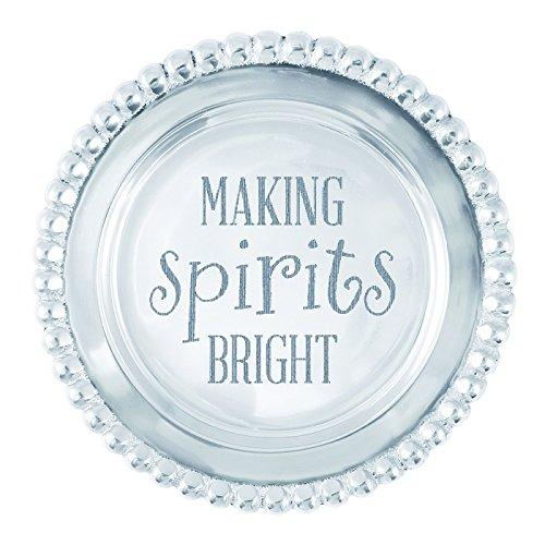 Mariposa Making Spirits Bright Beaded Wine Plate ()