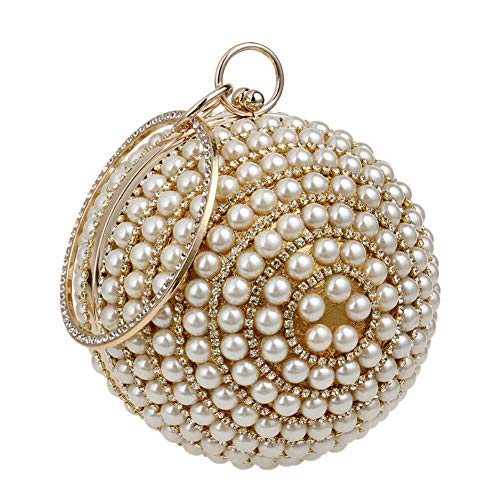 Purse Womens Wallet Wedding Bag Bags Pearls Gold Ladies Clutches Prom Chain Dress Evening n1ZqII