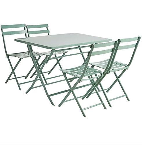 Empire - Mesa y sillas de jardín de Metal Macizo, 4 plazas: Amazon.es: Hogar