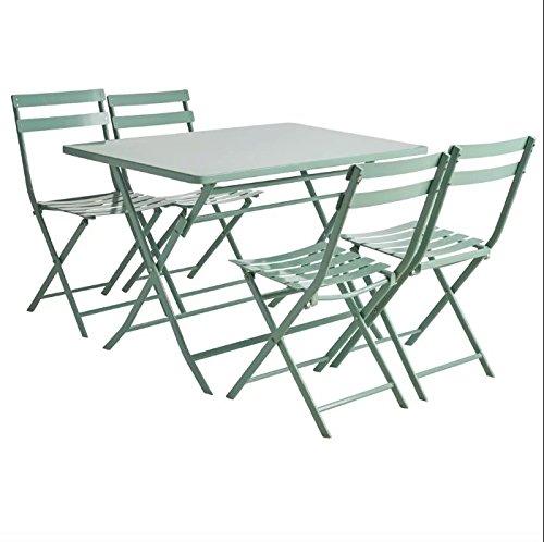 Empire - Mesa y sillas de jardín de Metal Macizo, 4 plazas: Amazon ...