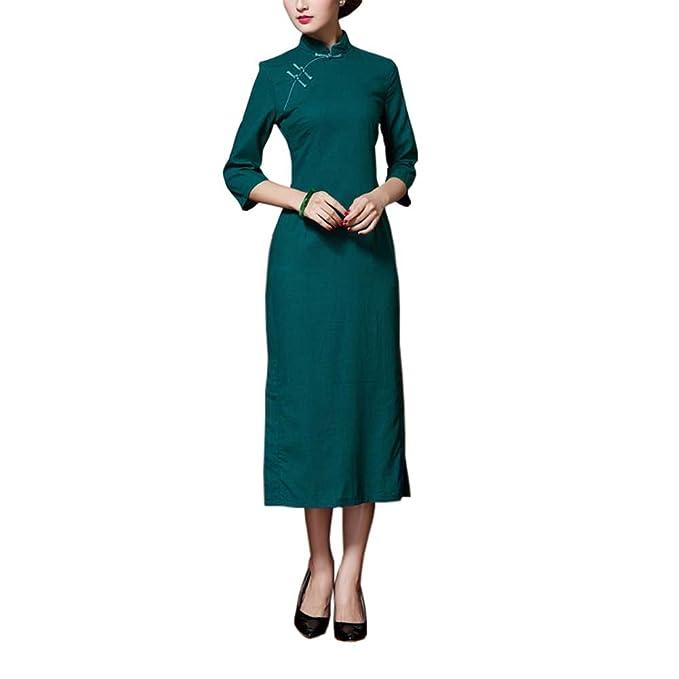 3fc8c6e24 Vestidos de Partido Tradicionales Chinos del Vestido del Color ...