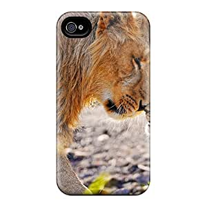For CalvinDoucet Iphone Protective Cases, High Quality For Iphone 6 Lion Cub Rubbing Noses Skin Cases Covers