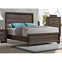 ACME Cyrille Walnut Eastern King Bed