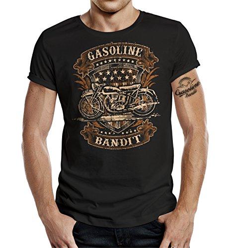 GASOLINE BANDIT® - Camiseta - Manga corta - para hombre negro XXXL