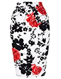 Slim Vintage Pencil Skirts for Women Cotton Floral CL008928  ¡ô This below the knee pencil skirt is perfect for office or daily casual wear. ¡ô You can be more cute, energy and attractive on this skirt. ¡ô The blend of cotton and spandex make...