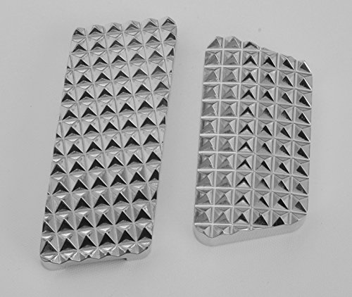 Billet Aluminum Pedal Set - RealWheels RW235-1-J Billet Aluminum Mirror Finish Pedal Set for Jeep Wrangler
