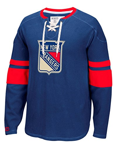 Ny Rangers Classic Shirt (NHL New York Rangers Men's CCM Long Sleeve Jersey Crew Top, X-Large,)