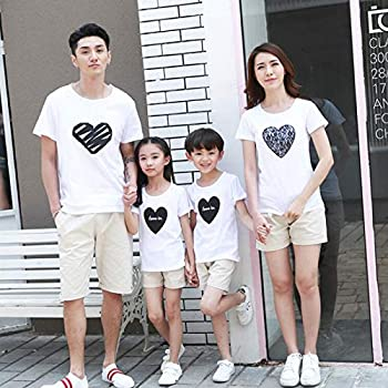fa5a0e6c ... Family Clothing Heart Short Sleeve T-Shirt for Mother Daughter and  Father. Loading images.