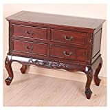 Queen Anne Four Drawer Wooden Console