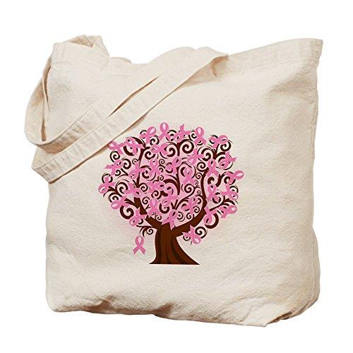 CafePress–el árbol de la vida... gamuza de cáncer de mama–lona bolso, bolsa de la compra