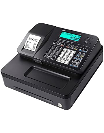 Casio PC Caisse SE-S100S Noir - Caisse enregistreuse Avec imprimante thermique silencieuse - Petit