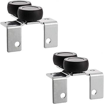 1 rodillo superior 2 piezas para puertas correderas de armario: Amazon.es: Bricolaje y herramientas