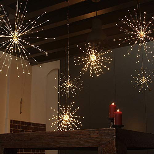 Lotus.flower Fireworks Lamp String Decoration - LED Copper Wire String Lights Hanging -Wireless Remote Control for Christmas Home Garden Party Yard Decoration Waterproof (Multicolor) by Lotus.flower