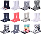 Mio Marino Womens Dress Socks - Colorful Patterned Socks for Women - 12 Pack Assorted - 9-11