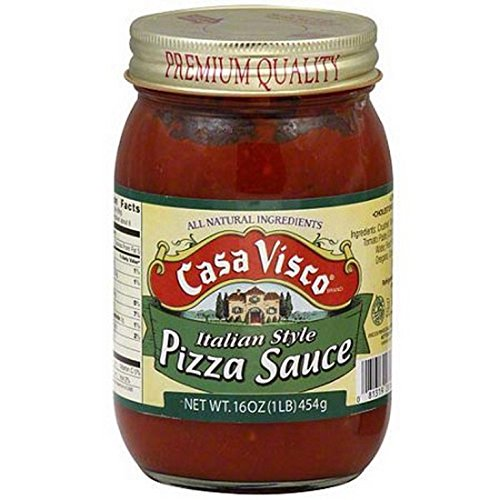 CASA VISCO, Dsp, Pizza Sauce, Pack of 36, Size 16 OZ, (Gluten Free Low Sodium)