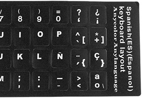 B Blesiya Cubierta Protectora de Teclado Pegatina Membrana Letras Blancas Espa/ñolas Protector de Computadora Accesorios Pr/ácticos 4pcs