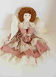 Vintage Country Angel Rag Doll Style Tree Topper 16 Inches Tall