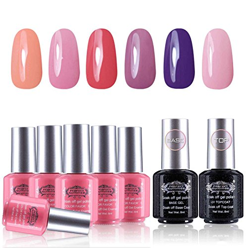 Perfect Summer UV/LED Soak Off Gel Nail Polish - 6 Colors wi